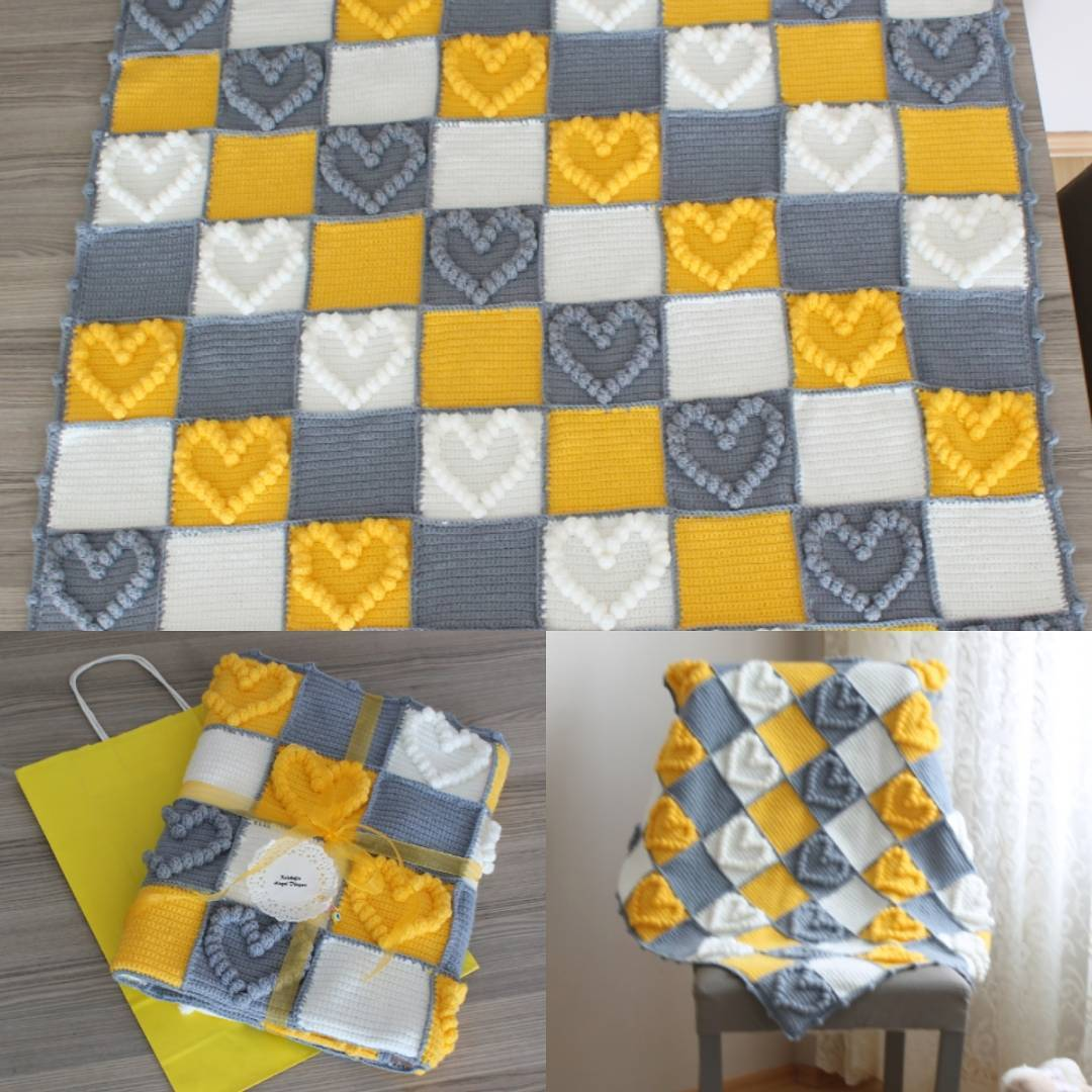 Kalpli Bebek Battaniyesi Yapımı Bebek Örgü Modelleri