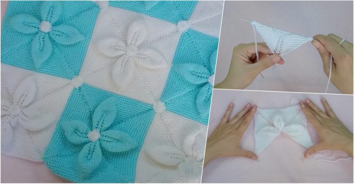 Yaprak Desenli 3 Boyutlu Bebek Battaniyesi Yapılışı