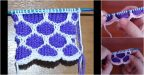 İki Renkli Bal Peteği Örgü Modeli Yapılışı