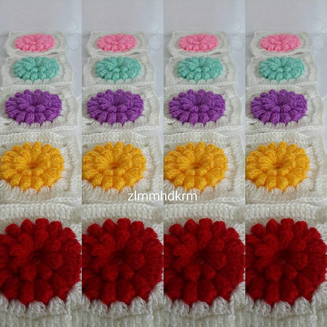 El işi çiçekli bebek battaniyesi