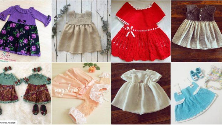 456f5cf165ab5 El Yapımı Örgü Bebek Elbiseleri 20 Adet - Hobiler