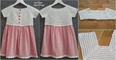 Örgü Robalı Kız Çocuk Elbisesi Yapımı