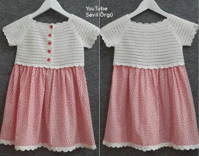 Robalı Çocuk Elbisesi