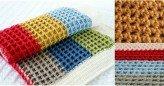 Waffle Gofret Örgü Modeli Bebek Battaniyesi Yapımı