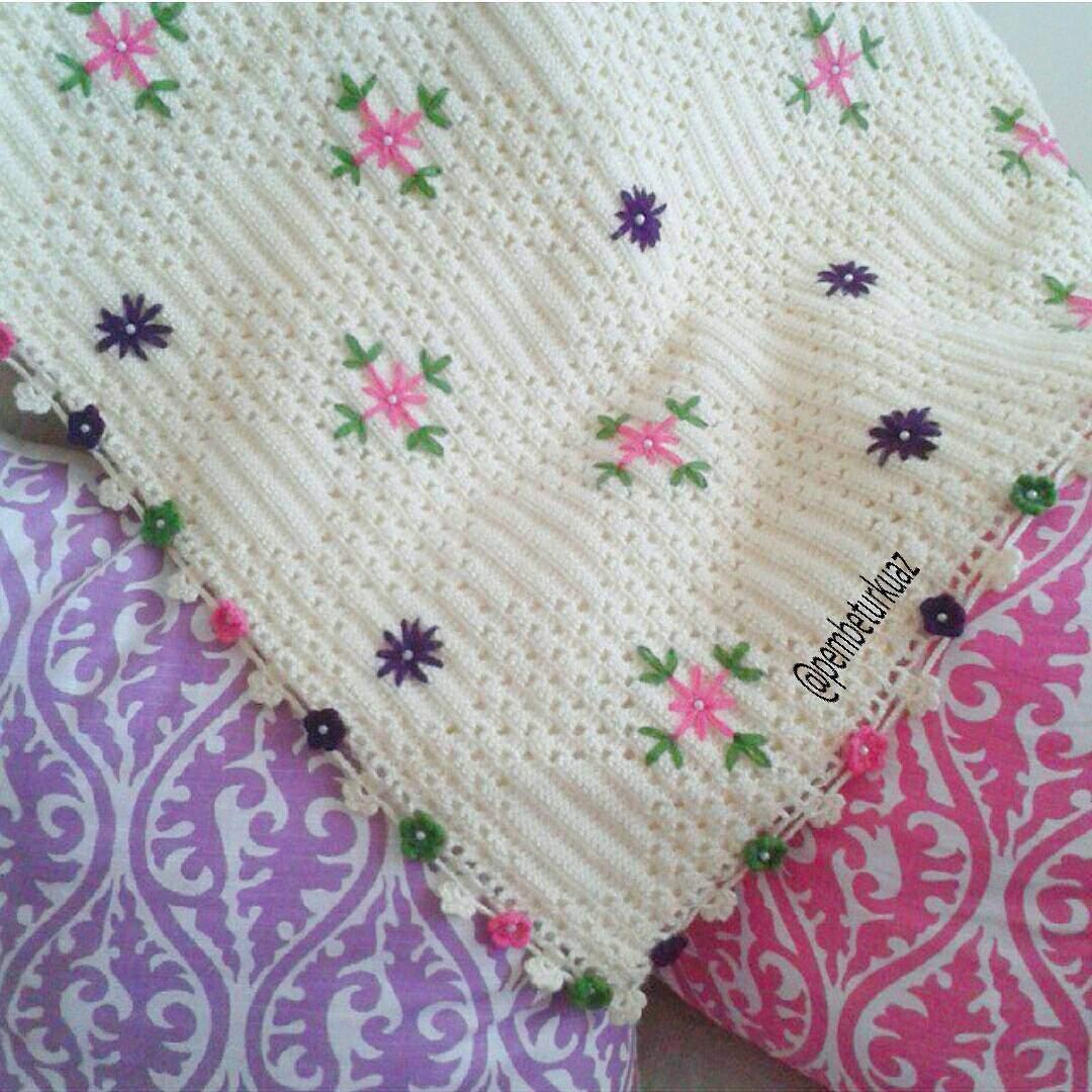 Yeni model bebek battaniye örneği
