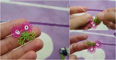İkili Çiçekli Mekik Oyası Yapılışı