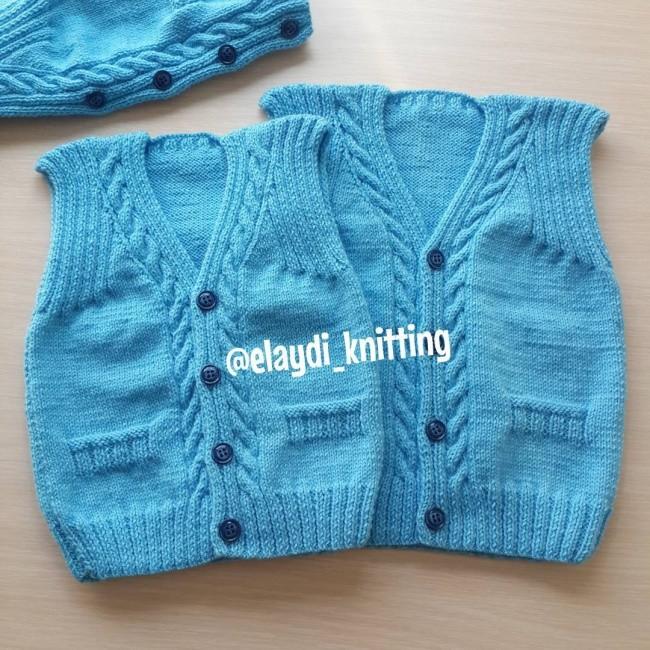 Mavi Bebek Yeleği Yapılışı