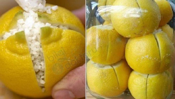 Üzerine Tuz Serpilerek Odada Bekletilen Limon Hayatınızı Değiştirecek