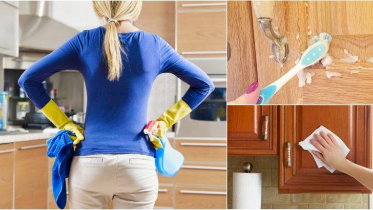 Mutfak Dolaplarındaki Yağ Lekeleri Nasıl Temizlenir?
