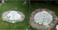 Bahçeye Şelaleli Süs Havuzu Yapımı