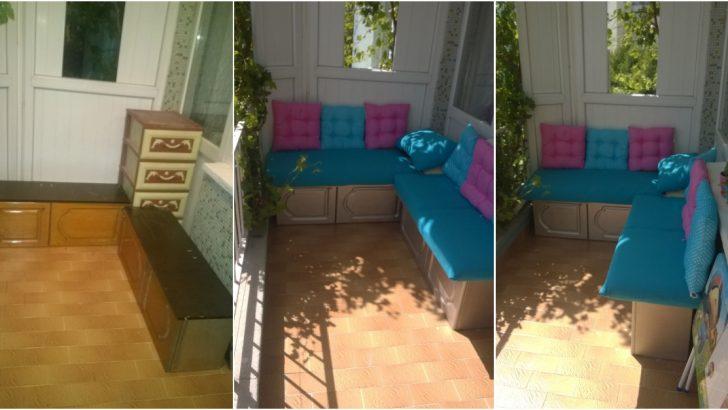 Eski Mutfak Dolabının Balkon Sedirine Dönüşümü