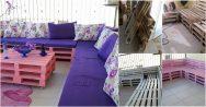 Paletlerden Balkon ve Salon İçin Oturma Grubu Yapabilirsiniz