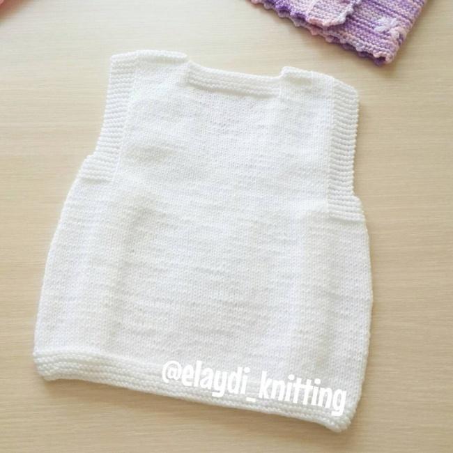 Ayıcıklı bebek yeleği yapılışı 4