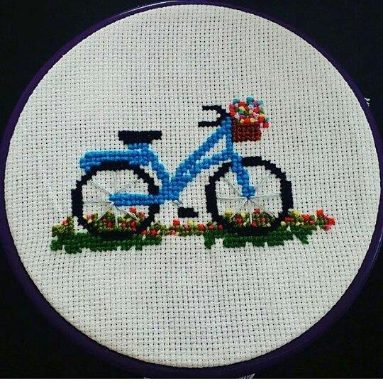 Bisiklet Kanaviçe Motifi