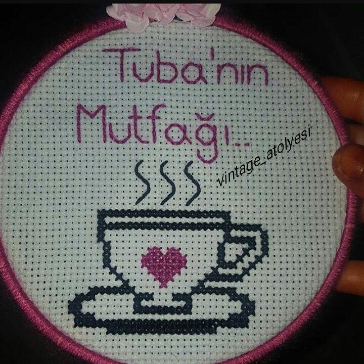 Kahve Motifli Etamin