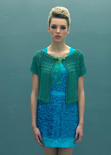 Mavi elbise için hırka