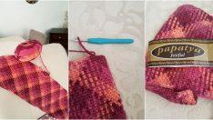 Ekose Örgü Koltuk Battaniye Yapımı
