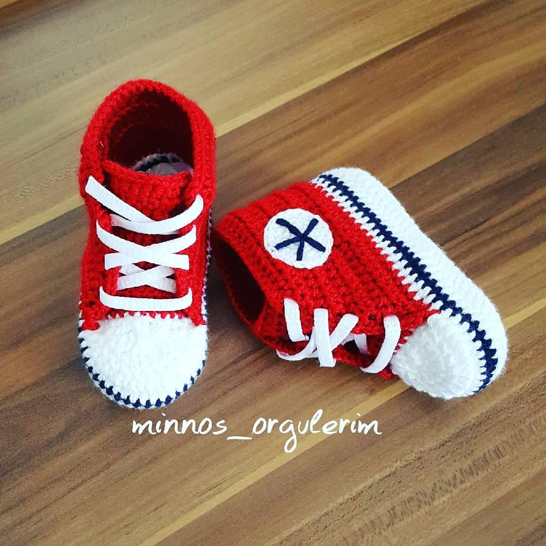Kırmızı converse bebek patiği