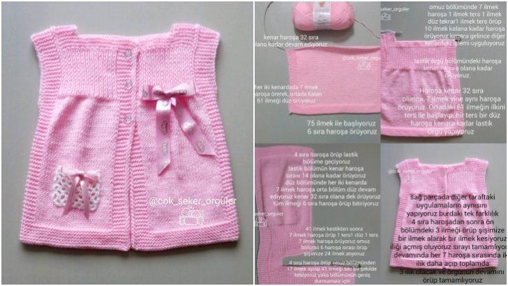 Lastikli Bebek Yeleği Yapımı Detaylı Anlatım