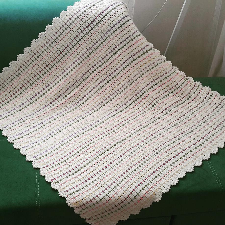 Örgü astarlı battaniye