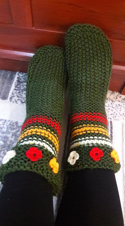 Pirinç Örgü İle Bayan Çorap Yapılışı