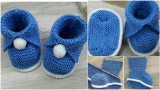 Resimli Bebek Patik Modelleri Yapımı