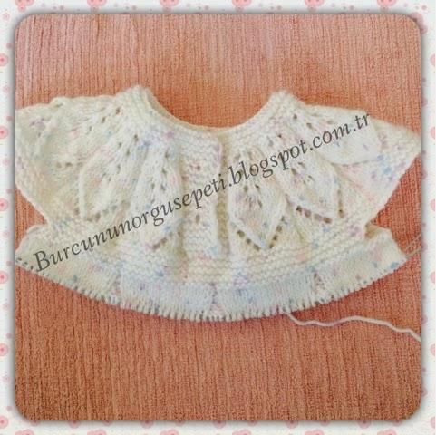 Yaprak Robali Bebek Elbisesi 7