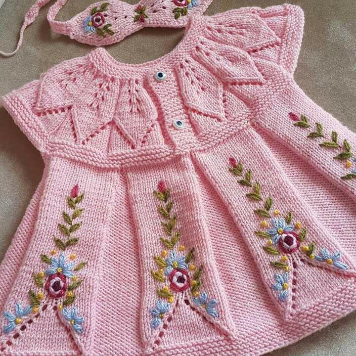 Yaprak Robali Bebek Elbisesi